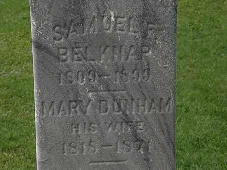 BELKNAP, MARY - Lorain County, Ohio | MARY BELKNAP - Ohio Gravestone Photos