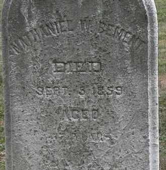 BEMENT, NATHANIEL W. - Lorain County, Ohio | NATHANIEL W. BEMENT - Ohio Gravestone Photos