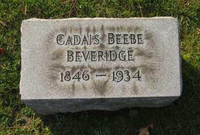 BEVERIDGE, CADAIS - Lorain County, Ohio | CADAIS BEVERIDGE - Ohio Gravestone Photos