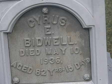 BIDWELL, CYRUS E. - Lorain County, Ohio | CYRUS E. BIDWELL - Ohio Gravestone Photos
