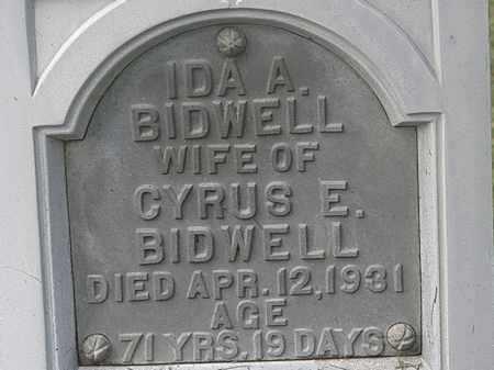 BIDWELL, IDA A. - Lorain County, Ohio   IDA A. BIDWELL - Ohio Gravestone Photos