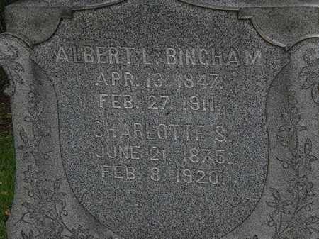 BINGHAM, CHARLOTTE S. - Lorain County, Ohio | CHARLOTTE S. BINGHAM - Ohio Gravestone Photos