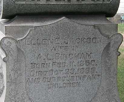 JACKSON BINGHAM, ELLEN E. - Lorain County, Ohio | ELLEN E. JACKSON BINGHAM - Ohio Gravestone Photos