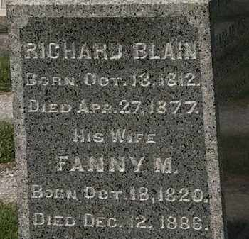 BLAIN, RICHARD - Lorain County, Ohio | RICHARD BLAIN - Ohio Gravestone Photos