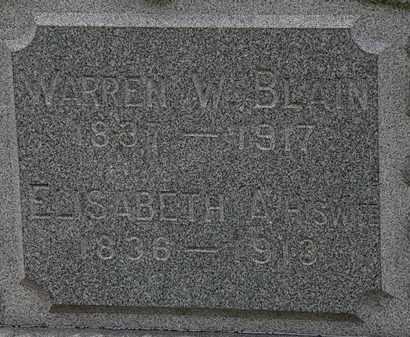 BLAIN, WARREN W. - Lorain County, Ohio | WARREN W. BLAIN - Ohio Gravestone Photos