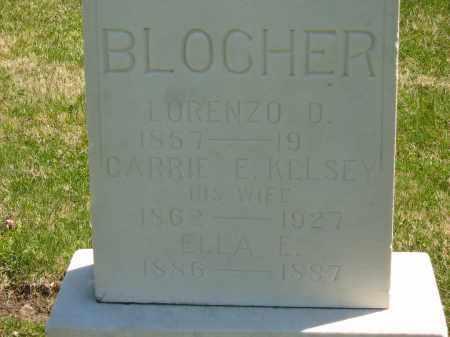 BLOCHER, ELLA E. - Lorain County, Ohio | ELLA E. BLOCHER - Ohio Gravestone Photos
