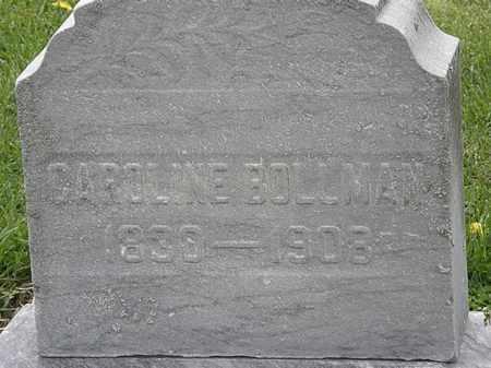 BOLLMAN, CAROLINE - Lorain County, Ohio   CAROLINE BOLLMAN - Ohio Gravestone Photos