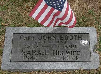 BOOTH, JOHN - Lorain County, Ohio | JOHN BOOTH - Ohio Gravestone Photos