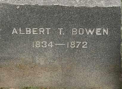 BOWEN, ALBERT T. - Lorain County, Ohio   ALBERT T. BOWEN - Ohio Gravestone Photos