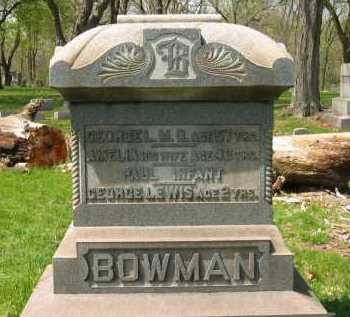 BOWMAN, GEORGE L. - Lorain County, Ohio | GEORGE L. BOWMAN - Ohio Gravestone Photos