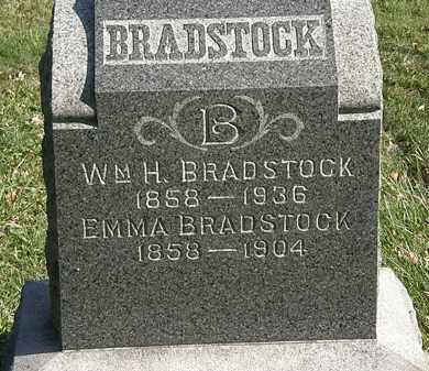 BRADSTOCK, EMMA - Lorain County, Ohio | EMMA BRADSTOCK - Ohio Gravestone Photos