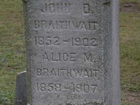 BRAITHWAITE, JOHN D. - Lorain County, Ohio | JOHN D. BRAITHWAITE - Ohio Gravestone Photos