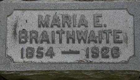 BRAITHWAITE, MARIA E. - Lorain County, Ohio | MARIA E. BRAITHWAITE - Ohio Gravestone Photos