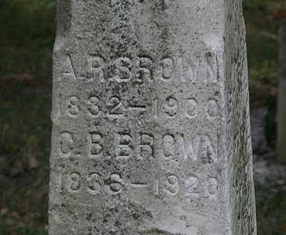 BROWN, C.B. - Lorain County, Ohio | C.B. BROWN - Ohio Gravestone Photos