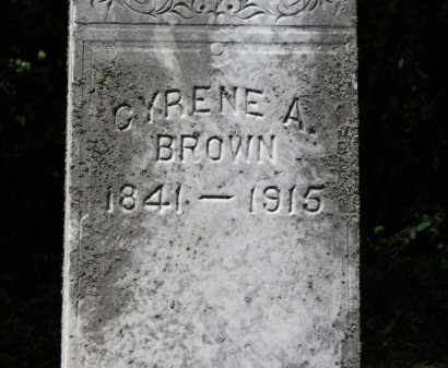 BROWN, CYRENE A. - Lorain County, Ohio | CYRENE A. BROWN - Ohio Gravestone Photos