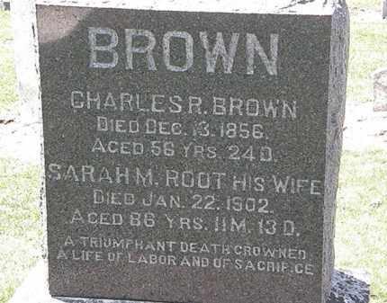 BROWN, CHARLES R. - Lorain County, Ohio | CHARLES R. BROWN - Ohio Gravestone Photos