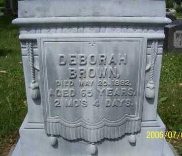 BROWN, DEBORAH - Lorain County, Ohio | DEBORAH BROWN - Ohio Gravestone Photos