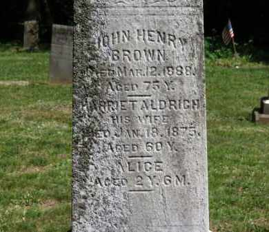 BROWN, HARRIET - Lorain County, Ohio | HARRIET BROWN - Ohio Gravestone Photos