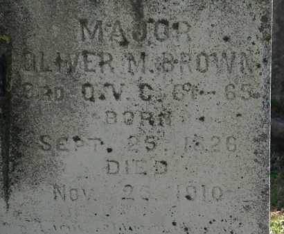 BROWN, MAJ. OLIVER M - Lorain County, Ohio | MAJ. OLIVER M BROWN - Ohio Gravestone Photos