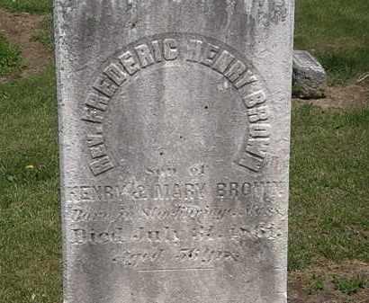BROWN, REV. FREDERIC HENRY - Lorain County, Ohio | REV. FREDERIC HENRY BROWN - Ohio Gravestone Photos