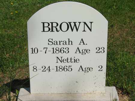 BROWN, NETTIE - Lorain County, Ohio | NETTIE BROWN - Ohio Gravestone Photos