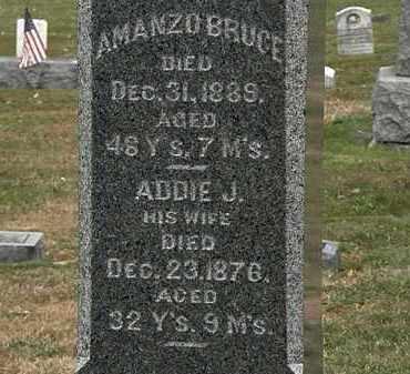 BRUCE, AMANZO - Lorain County, Ohio | AMANZO BRUCE - Ohio Gravestone Photos