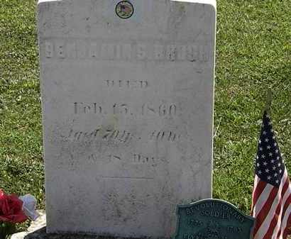 BRUSH, BENJAMIN S. - Lorain County, Ohio | BENJAMIN S. BRUSH - Ohio Gravestone Photos