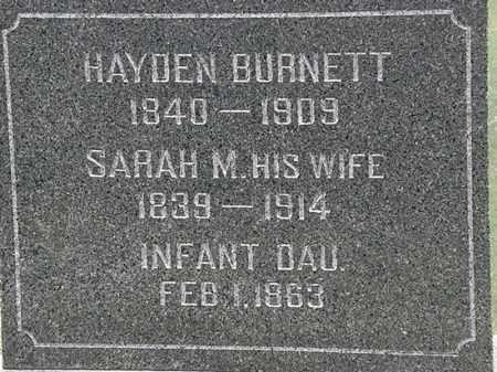 BURNETT, HAYDEN - Lorain County, Ohio | HAYDEN BURNETT - Ohio Gravestone Photos
