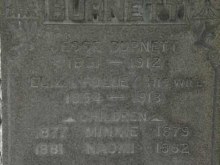 BURNETT, NAOMI - Lorain County, Ohio | NAOMI BURNETT - Ohio Gravestone Photos