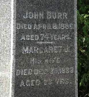 BURR, MAGARET J. - Lorain County, Ohio   MAGARET J. BURR - Ohio Gravestone Photos