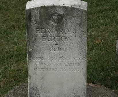 BURTON, EDWARD J. - Lorain County, Ohio | EDWARD J. BURTON - Ohio Gravestone Photos