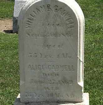 CADWELL, WILLIAM B. - Lorain County, Ohio | WILLIAM B. CADWELL - Ohio Gravestone Photos