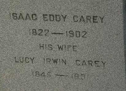 IRWIN CAREY, LUCY - Lorain County, Ohio | LUCY IRWIN CAREY - Ohio Gravestone Photos