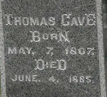 CAVE, THOMAS - Lorain County, Ohio | THOMAS CAVE - Ohio Gravestone Photos
