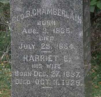 CHAMBERLAIN, GEO. B. - Lorain County, Ohio   GEO. B. CHAMBERLAIN - Ohio Gravestone Photos