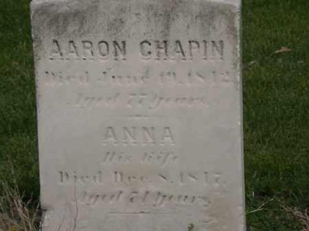 CHAPIN, AARON - Lorain County, Ohio | AARON CHAPIN - Ohio Gravestone Photos