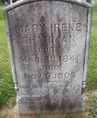 CHAPMAN, MARY IRENE - Lorain County, Ohio   MARY IRENE CHAPMAN - Ohio Gravestone Photos