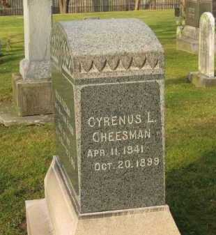 CHEESMAN, CYRENUS L. - Lorain County, Ohio | CYRENUS L. CHEESMAN - Ohio Gravestone Photos