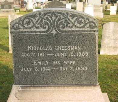 CHEESMAN, NICHOLAS - Lorain County, Ohio | NICHOLAS CHEESMAN - Ohio Gravestone Photos