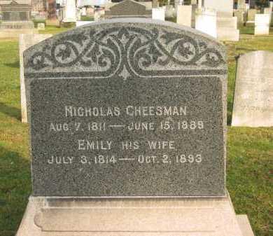 CHEESMAN, NICHOLAS - Lorain County, Ohio | NICHOLAS CHEESMAN - Ohio Gravestone Photos