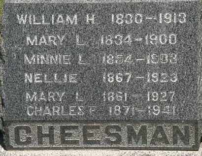 CHEESMEN, MARY L. - Lorain County, Ohio | MARY L. CHEESMEN - Ohio Gravestone Photos