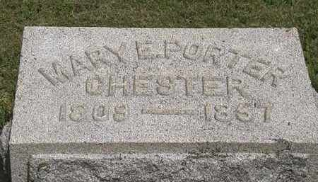 PORTER CHESTER, MARY E. - Lorain County, Ohio | MARY E. PORTER CHESTER - Ohio Gravestone Photos