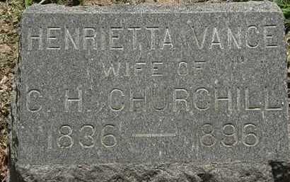 VANCE CHURCHILL, HENRIETTA - Lorain County, Ohio | HENRIETTA VANCE CHURCHILL - Ohio Gravestone Photos
