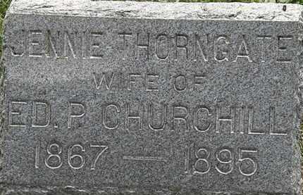 CHURCHILL, JENNIE - Lorain County, Ohio | JENNIE CHURCHILL - Ohio Gravestone Photos