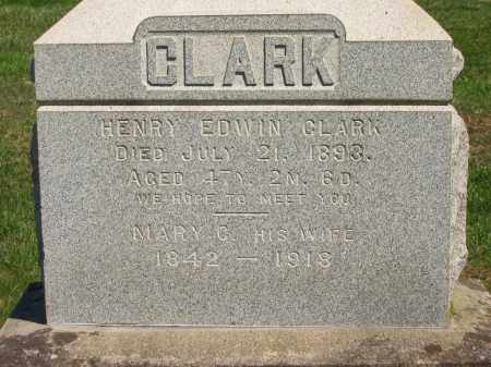 CLARK, HENRY EDWIN - Lorain County, Ohio | HENRY EDWIN CLARK - Ohio Gravestone Photos