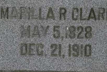 CLARK, MARILLA R. - Lorain County, Ohio | MARILLA R. CLARK - Ohio Gravestone Photos