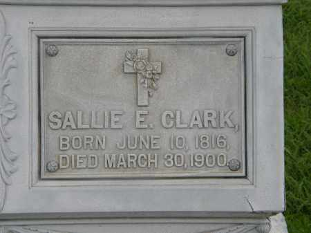 CLARK, SALLIE E. - Lorain County, Ohio | SALLIE E. CLARK - Ohio Gravestone Photos