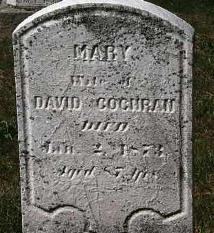 COCHRAN, MARY - Lorain County, Ohio   MARY COCHRAN - Ohio Gravestone Photos