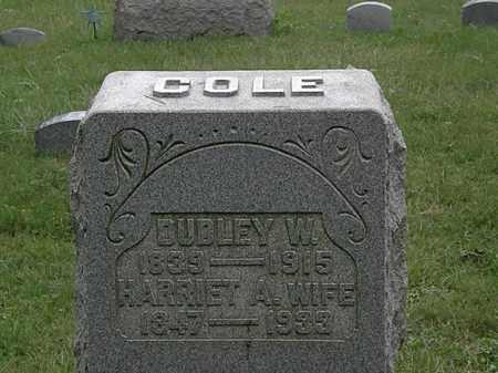 COLE, HARRIET A. - Lorain County, Ohio | HARRIET A. COLE - Ohio Gravestone Photos