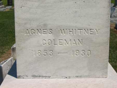 WHITNEY COLEMAN, AGNES - Lorain County, Ohio | AGNES WHITNEY COLEMAN - Ohio Gravestone Photos